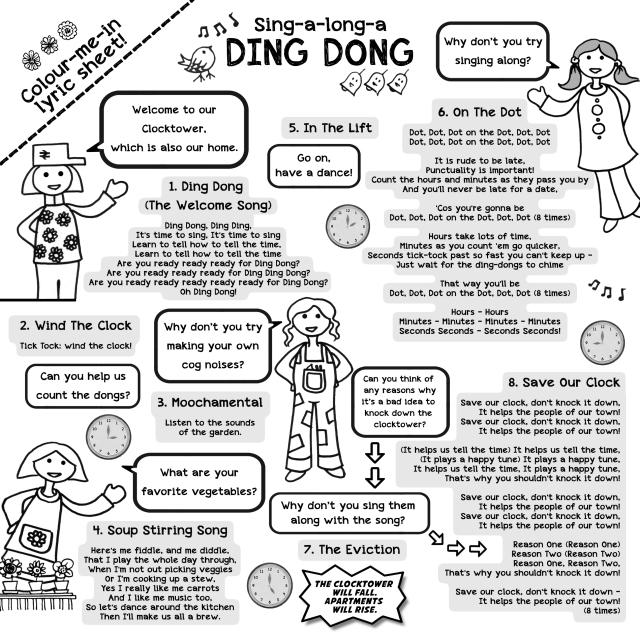DING DONG CD LYRICS SHEET 2